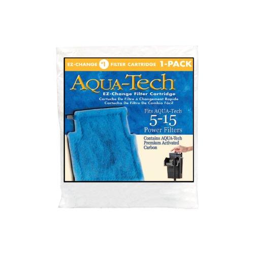 Aqua-Tech EZ-Change No.1 1-Pack Aquarium Filter Cartridge for 5 to 15 Power Filters