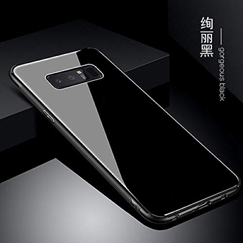 OPXZPM - Carcasa para Samsung Galaxy Note 8 (cristal templado), color negro