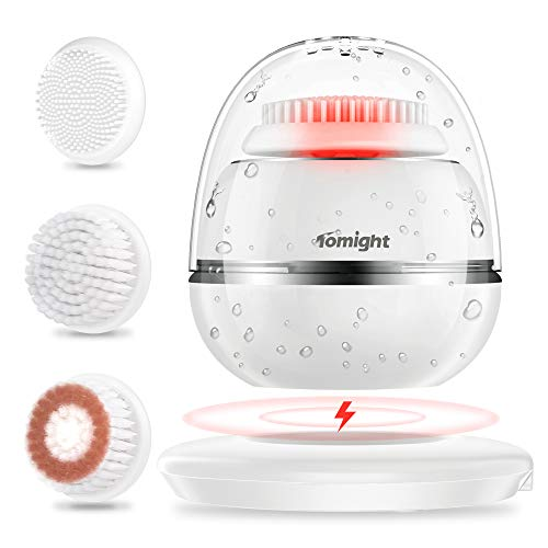 Tomight Sonic Vibrating Facial Cleansing Brush, Waterproof Facial Brush...