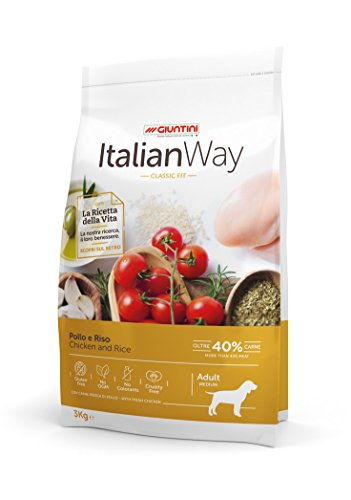 Italian Way Cibo per Cani Classic Fit Pollo e Riso - Adult - Medium - 12 kg
