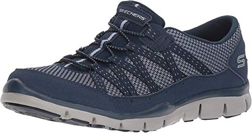 Skechers Women's Gratis-Strolling Sneaker, NVY, 10 M US