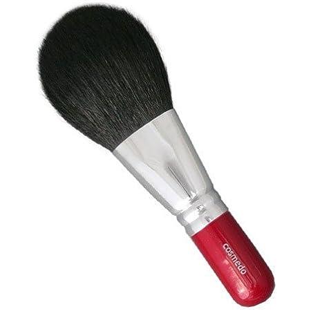 匠の化粧筆コスメ堂 熊野筆 メイクブラシ 毛量たっぷり ジャンボフェイスブラシ2 白尖/粗光峰 日本製 ( 赤軸ショートタイプ / パウダーブラシ / フェイスブラシ ) HF-P204
