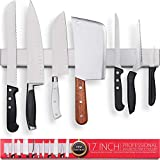 Premium 17 Inch Stainless Steel Magnetic Knife Holder – Professional Magnetic Knife Strip