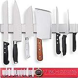 Premium 17 Inch Stainless Steel Magnetic Knife Holder for...