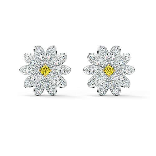Swarovski Eternal Flower Ohrringe, Ohrstecker im Gänseblümchen-Design mit Funkelnden Swarovski Kristallen