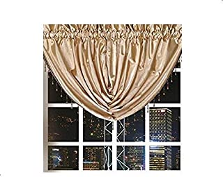 Octorose  Royalty Custom Waterfall Window Valance Swags & Tails (Gold, swag(66x37 WxH))