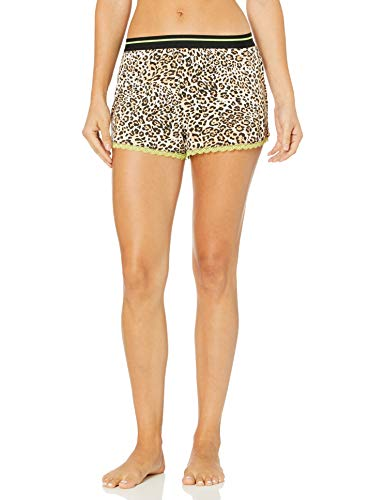 PJ Salvage Women's Pajama Shorts, Tan, Large