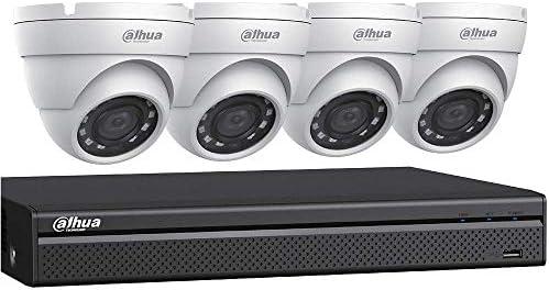 Dahua HDCVI Kit 4 Ch Penta Brid DVR 4 x 2MP Security Camera White C542E42 product image
