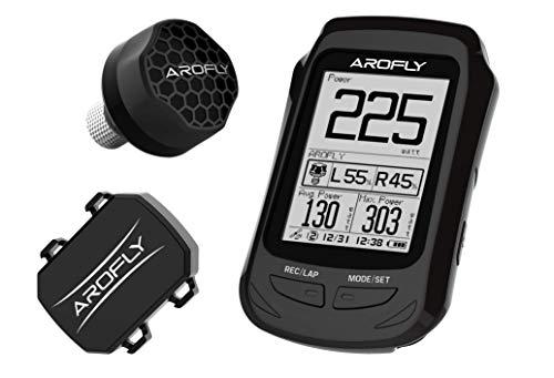 AROFLY X-Elite A1 (modelo Deluxe) – El medidor de potencia más pequeño y económico, con exclusivo ordenador GPS, compatible con Strava.