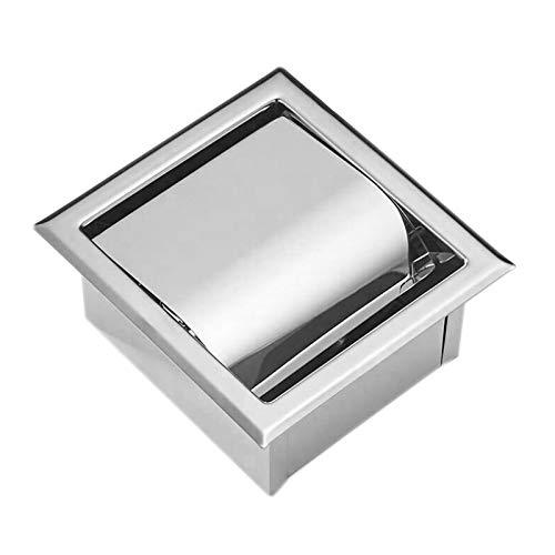 PQZATX Edelstahl Einbau Toilettenpapierhalter Wand Toilettenpapierhalter, Moderner Stil Toilettenpapierhalter, Einbau Tissue Roll Dispenser für Badezimmer
