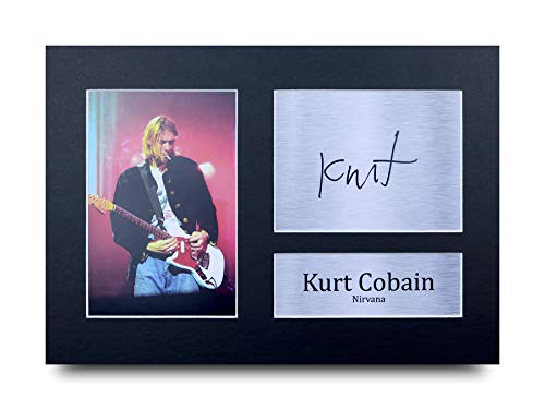 HWC Trading Kurt Cobain A4 Ungerahmt Signiert Gedruckt Autogramme Bild Druck-Fotoanzeige Geschenk Für Musik-Fans