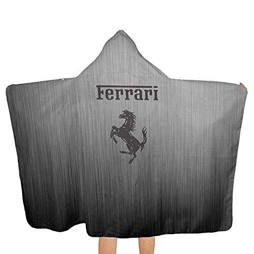 Large Puzzle Ferrari - Toalla (tacto súper suave, 100% algodón, ideal para el hogar, playa y piscina, 80 x 130 cm), multicolor