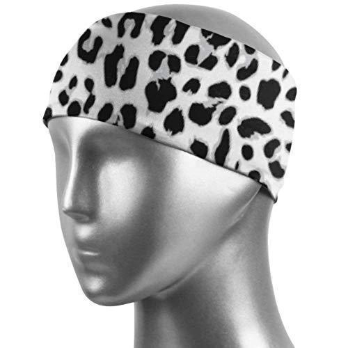 Verctor Diademas Deportivas para niñas Diadema de Entrenamiento de Piel de Leopardo para niños Absorción de Humedad Unisex