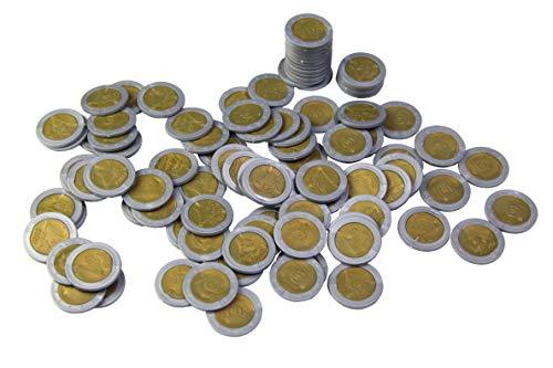 WISSNER® aktiv lernen - Monedas de 2 EURO (100 piezas) - RE-Plastic®