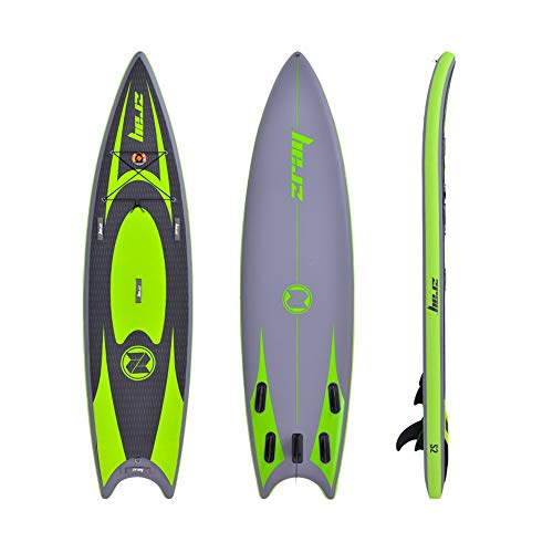 Aihifly Aufblasbares Paddle Board Hydro-Force Inflatable SUP Stand Up Paddle Board mit Tragetasche und Pumpen Grau und Grün 335x86x15cm Stand Up (Color : Green, Size : 335x86x15cm)