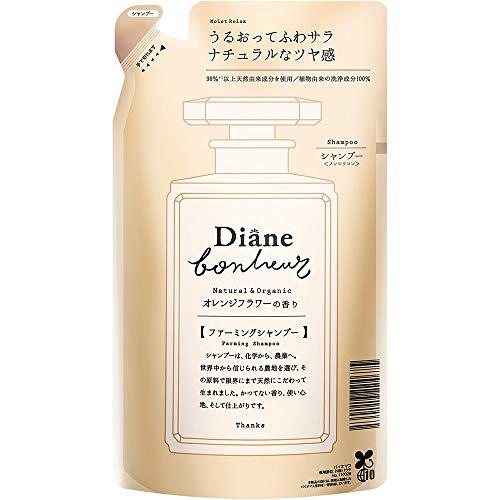 Moist Diane Bonheur Hair Shampoo 400ml - Orange Flower - Refill (Green Tea Set)
