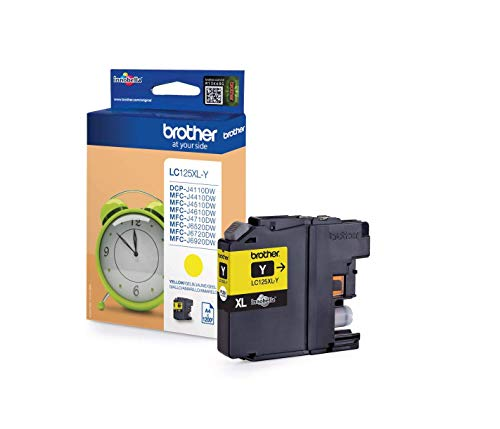 Brother LC125XLY - Cartucho de tóner adecuado para MFCJ4510DW, color amarillo