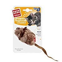 ★Motion sensor inside creature reacts when they're upside down, knocked over, or laying down. Batteries included. ★Animal Sound: Reacting to pet's touch. Once touched with the swat of a paw, it will make a realistic mouse sound. Play games with melod...