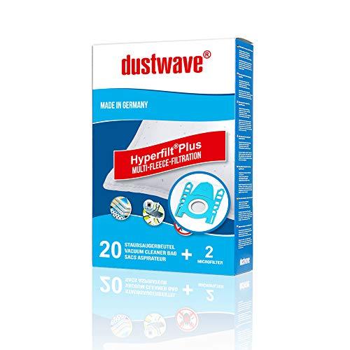 20 sacs pour aspirateur siemens-vbbs625 v00 dustwave ® markenstaubbeutel fabriqué en allemagne avec micro-filtre
