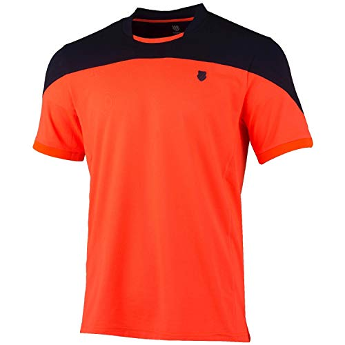 K-Swiss KS TAC Hypercourt Block Crew Camiseta de Tenis,...