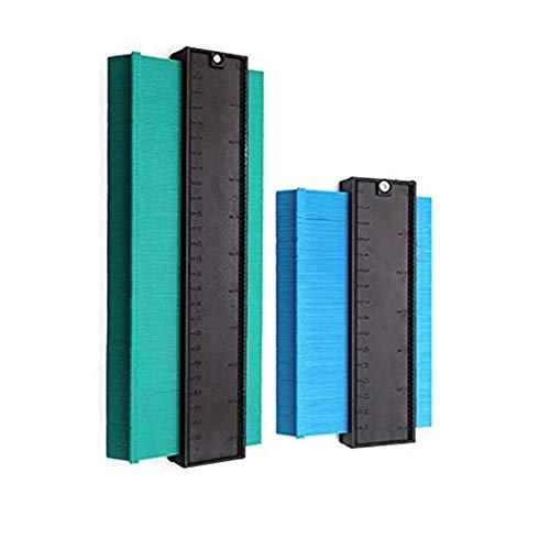 2 Pack Contour Gauge, Contour Gauge Duplicator Precisely Copy Irregular Shapes Tracing Template Measuring Tool for Easy Outline Gauge Standard Wood Marking Tool, 2 Sizes