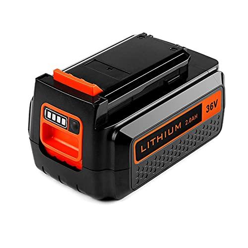 2.0AH 3.0AH 36V batería Reemplaza para Black & para Decker BL2036 LBX2040 LBXR36 LBXR2036 LST136 LBX1540 Baterías de Litio Recargables, WQQWQQ-8521 (Color : 2Ah)