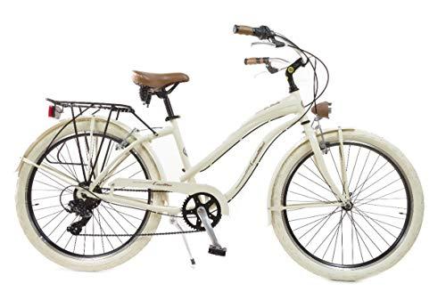 Via Veneto by Canellini Fahrrad Rad Citybike CTB Frau Vintage Retro American Cruiser Alluminium Beige
