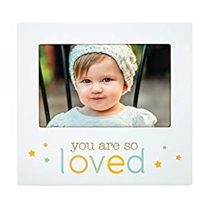 "Pearhead""You are So Loved"" Baby Keepsake Picture Frame, Perfect for Baby's Nursery, White"