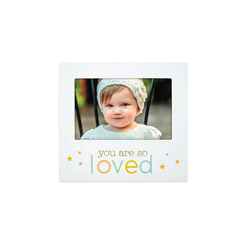 """crib bedding and baby bedding pearhead""""you are so loved"""" baby keepsake picture frame, perfect for baby's nursery, white"""