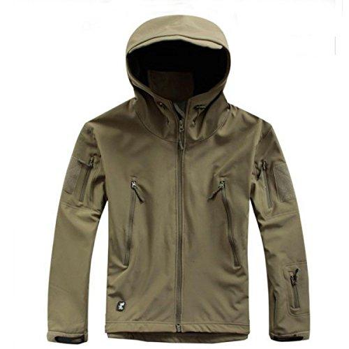 Taille XL Green Army Outerdoor Chasse Randonnée Escalade Camp Airsoft survie Hoodie de veste de manteau