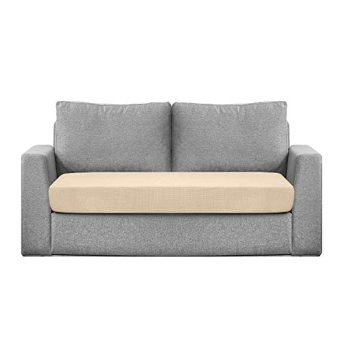 Granbest - Funda de cojín de asiento impermeable para sofá, funda de asiento de sofá, extensible, tejido jacquard (2 plazas), color beige
