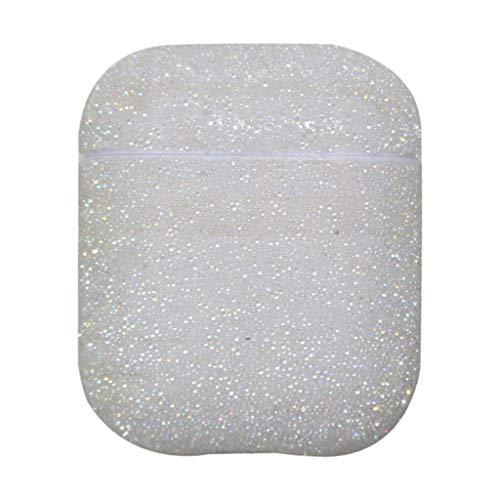Strass Case Kompatibel mit Airpods 1/2 Protective Bluetooth Headse Hülle, Schutzhülle Diamanten Charging Schutzhülle Tasche Schutzhülle Kristall-Bling Glänzend Diamant Cover (Weiß)
