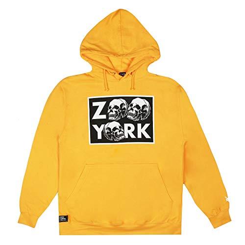 Zoo York Stacked Skull Hood Sudadera con Capucha, Gold, Large para Hombre