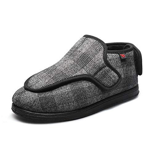 B/H Diabéticas Zapatos,Calzado calentito Ajustable, Calzado con Velcro azucarado para Ancianos-Off-White_39,Zapatos diabéticas Ajustables