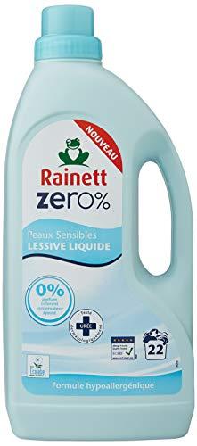 Rainett Lessive liquide peaux sensibles - Zero% - Le flacon de 1,5 l