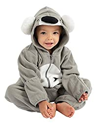 GREAT CLIMATE CONTROL - Cozy fleece keeps babies and kids warm when they need it. Rollover cuffs convert to mittens and booties, providing your baby or child with ultimate climate control for all environments. SHARE CUTE PHOTOS - Adorable one-piece j...