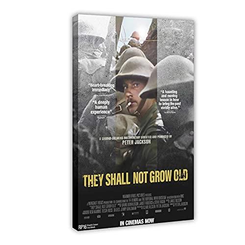 "Wandbild auf Leinwand, Motiv ""Documentary They Shall Not Grow Old"", 60 x 90 cm, Rahmen:"