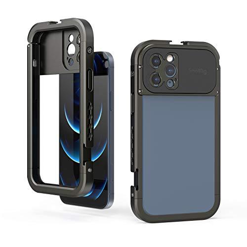 SMALLRIG Jaula de teléfono inteligente para iPhone 12 Pro Max, plataforma de video de aluminio para Vlogging