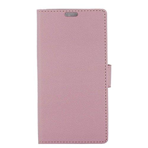 Sunrive Hülle Für HTC Desire 12s, Magnetisch Schaltfläche Ledertasche Schutzhülle Etui Hülle Cover Handyhülle Schalen Handy Tasche Lederhülle Etui(C rosa) MEHRWEG