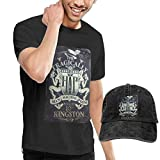 Photo de HKGJG T-Shirt Dingtai The Tragically Hip Men's Short Sleeve T Shirt and Adult Washed Cowboy Hat