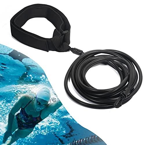 Dioxide Pool Schwimmgürtel, Einstellbarer Schwimmwiderstandsgürtel, Hochwertiger Dicker Schwimmgürtel, Langlebiger Schwimmgurt Bungee Schwimmseil für Frwachsene Kinder, die Schwimmen