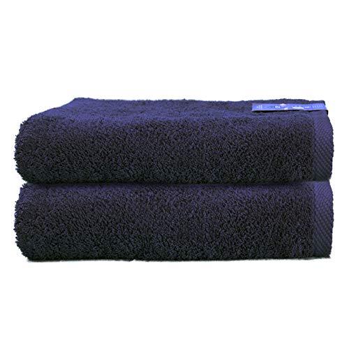 ADP Home - Pack Toallas 550 Grms 2 Piezas (Toalla Ducha/Baño) 100% Algodón Peinado Color - Azul marino Talla - 70 x 140 cm