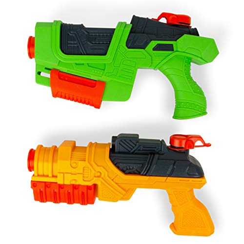 Boley Water Blasters - 2 Pack Large Squirt Gun Water Guns for Kids - Water Gun Pool and Bath Toys for Boys and Girls Ages 3 and up