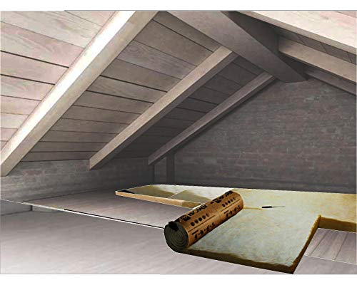 FUTURAZeta - Lana minerale isolante ROTOLO mq.15,60 isolamento termico coibentazione solaio soffitto