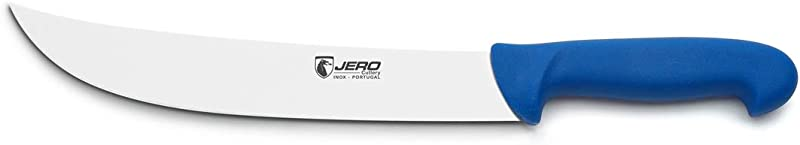 Jero Butcher Series P3 10 Cimeter Butcher Knife German Stainless Steel Polymer Handle Slicing Knife 1510P3