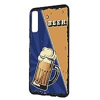 スマホケース ハードケース Galaxy A7 用 BEER ビール・ブルー ビンテージ アメリカン レトロ USA SAMSUNG サムスン ギャラクシー エーセブン SIMフリー すまほカバー 携帯ケース 携帯カバー beer_00x_h191@02