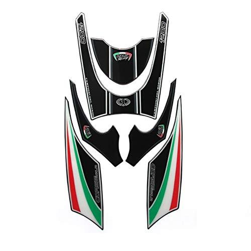 Aufkleber Motorrad for Ducati Diavel 1200 2011 Hochwertige Motorrad Frontverkleidung Motor Number Board 3D Gel Protector (Color : B)