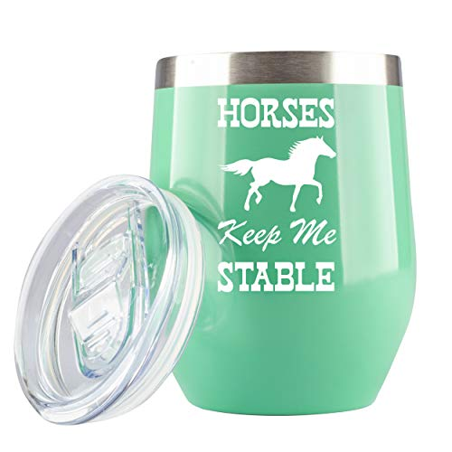 horse coffee cup with lid - 1
