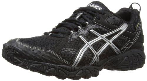ASICS Gel-Trail Lahar 5 G-TX Damen Laufschuhe, Schwarz - Schwarz versilbert - Größe: 50.5 EU