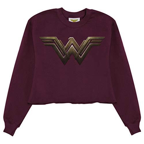 DC Comics Wonder Woman Logotipo de la pelcula de la Mujer Recortada Camiseta de Borgoa M